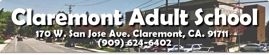 Welcome to Claremont Adult School