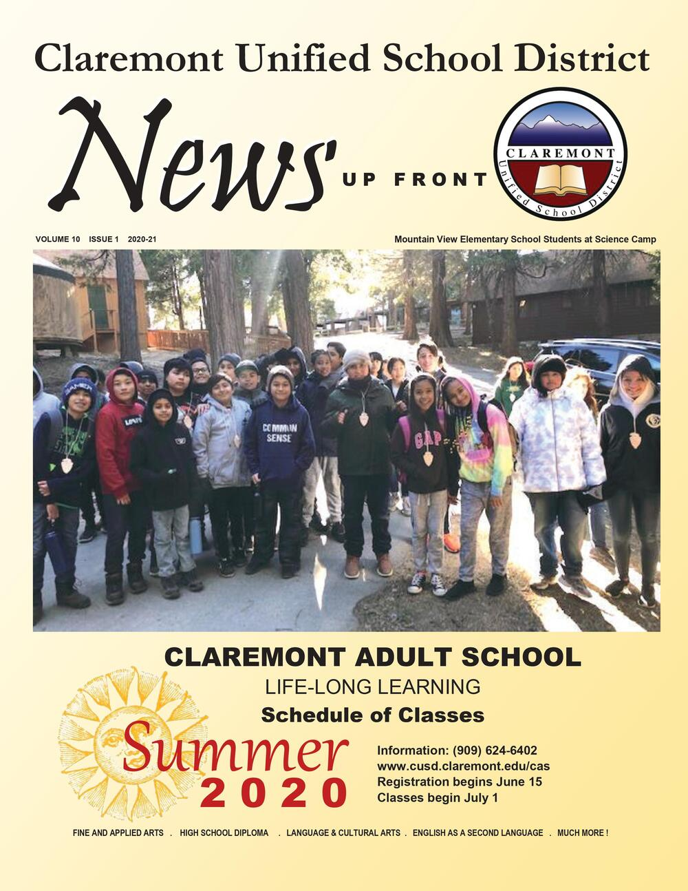 Claremont Adult School - Schedule of Classes